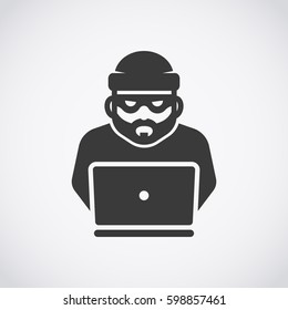 Robber icon. Bandit. Hacker