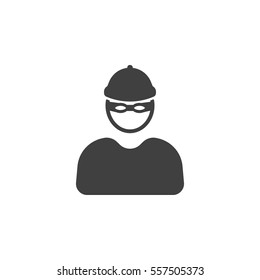 robber icon on the white background