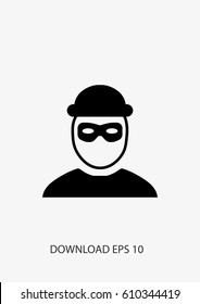 Robber icon, Vector