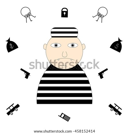 a16dce7a531 Robber Vector Illustration Stock Vector (Royalty Free) 458152414 ...