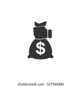 Robbery icon flat. Illustration isolated vector sign symbol