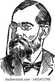 Robert Koch, vintage engraved illustration
