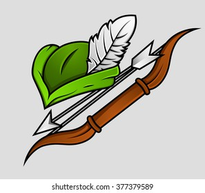 Robin Hood Cap and Archer Accessories