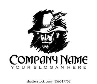 robin hood character illustration logo icon vector