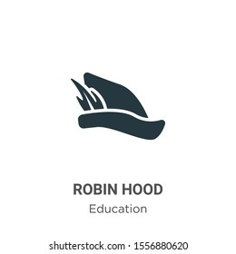 Robin hood vector icon on white background. Flat vector robin hood icon symbol sign from modern literature collection for mobile concept and web apps design.