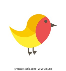 Robin icon (flat design)