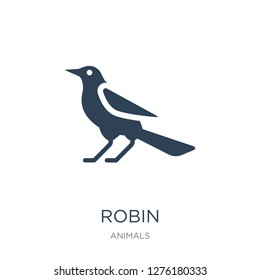 robin icon vector on white background, robin trendy filled icons from Animals collection, robin vector illustration