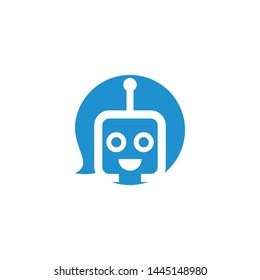 robot with antenna logo template