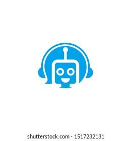 robot with antenna logo template