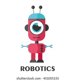 robot card. Vector Illustration