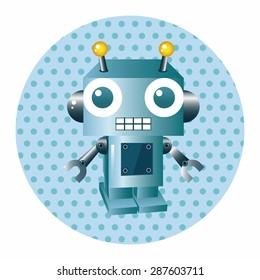robot cartoon theme elements vector,eps