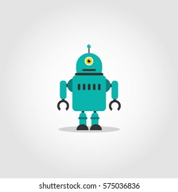 Robot Character Vector Illustration.