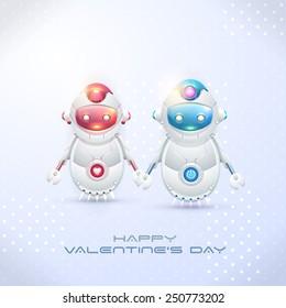 Robot Couple, Happy Valentine's Day Theme