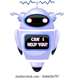 Robot, Cute and Friendly FAQ Chatbot, Virtual Intelligence for Dialog Systems