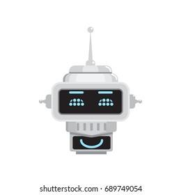 Robot emotion. Emoji Illustrations. Vector illustration.