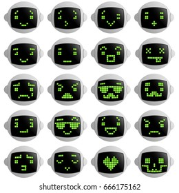 ROBOT FACES EMOTION SET