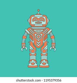 Robot Flat Vector Illustration
