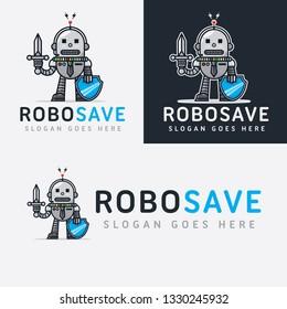 Robot Guard Cartoon Logo