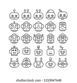robot head avatar icons