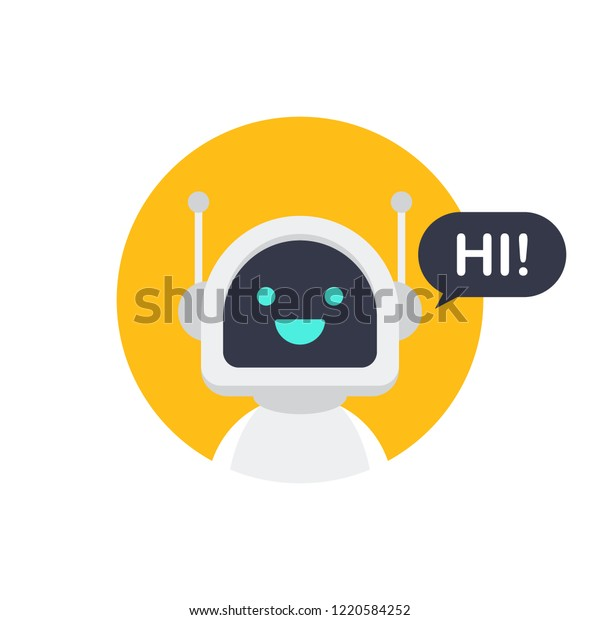 Robot Icon Bot Sign Design Chatbot Stock Vector (Royalty