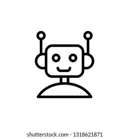 robot icon. chatbot icon