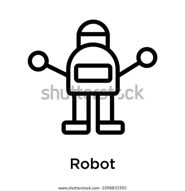 Robot Icon Isolated On White Background Stock Vector