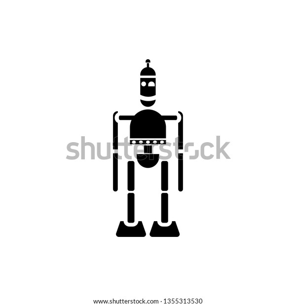 Robot Icon Technology Element Minimalistic Icon Stock Vector