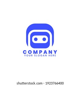 Robot logo template vektor. Modern robot company logo