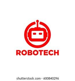 Robot logo vector
