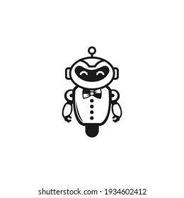 robot logo vector and icon
