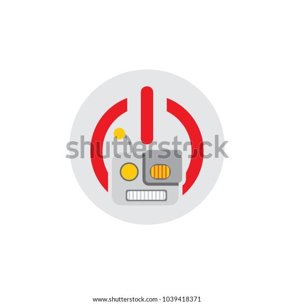 Robot Power Logo Icon Design