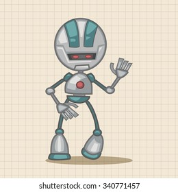 robot theme elements vector,eps - Shutterstock ID 340771457