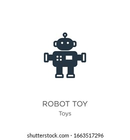 Robot toy icon vector. Trendy flat robot toy icon from toys collection isolated on white background. Vector illustration can be used for web and mobile graphic design, logo, eps10