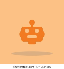 Robot vector icon illustration sign