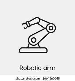 robotic arm icon vector. Linear style sign for mobile concept and web design. robotic arm symbol illustration. Pixel vector graphics - Vector.