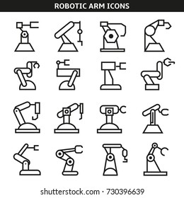 robotic arm icons