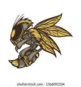 robotic bee for e sport logo