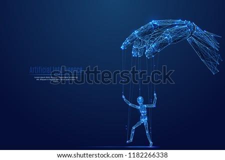 Robotic cyborg hand manipulating