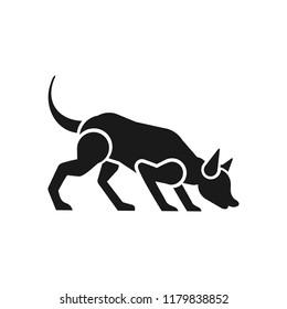 robotic dog vector logo icon