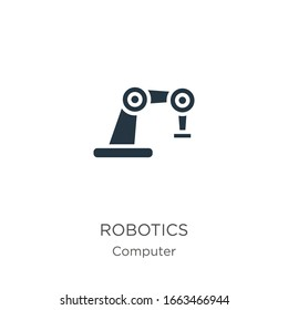 Robotics icon vector. Trendy flat robotics icon from computer collection isolated on white background. Vector illustration can be used for web and mobile graphic design, logo, eps10