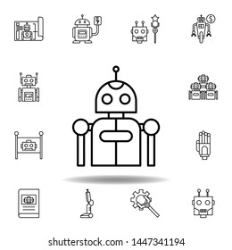 Robotics robot outline icon. set of robotics illustration icons. signs, symbols can be used for web, logo, mobile app, UI, UX