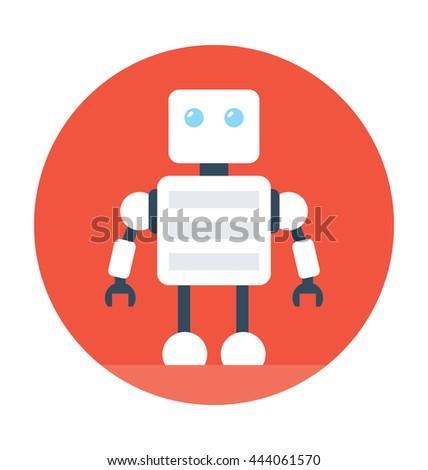 Robotics Vector Icon Stock Vector Royalty Free 444061570