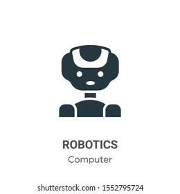 Robotics vector icon on white background. Flat vector robotics icon symbol sign from modern computer collection for mobile concept and web apps design.