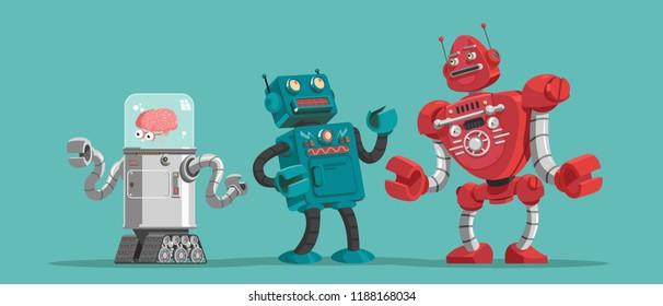 Robots. Vector illustration.