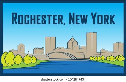 Rochester, New York, United States vector illustration