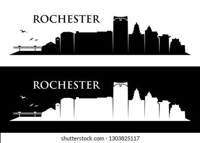 Rochester skyline - Minnesota - United States of America - USA - vector illustration
