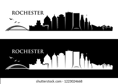 Rochester skyline - New York, United States of America, USA, NY - vector illustration