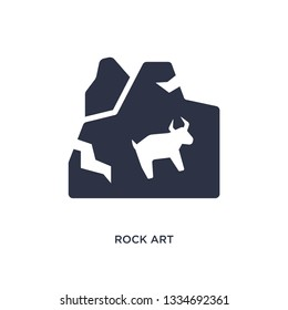 rock art icon. Simple element illustration from stone age concept. rock art editable symbol design on white background. Can be use for web and mobile.