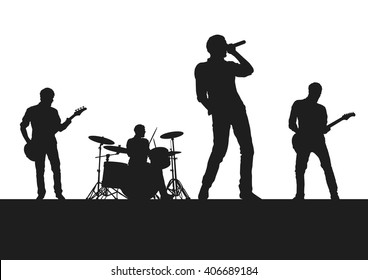 Rock Band on Stage