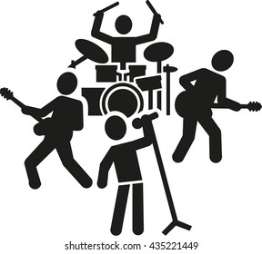 Rock band pictogram